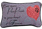 Manual Cats Leave Paw Prints On Your Heart Forever Decorative Throw Pillow - 12.5 x 8.5 Inches