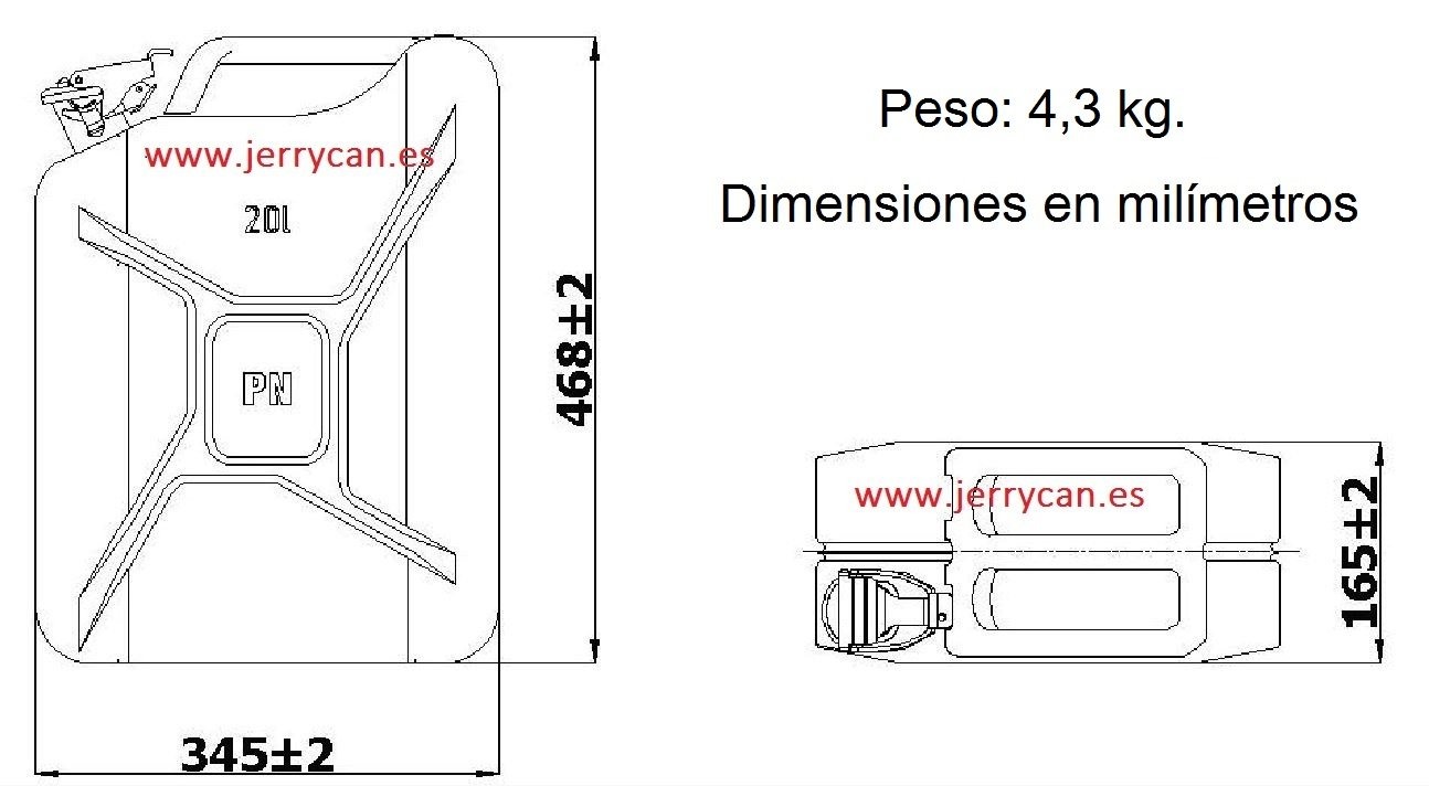 JERRY CAN, BIDON ACERO INOXIDABLE 20L PROTEGIDO CON EXPLOSTOP (ANTIEXPLOSIVO) - -HOMOLOGADO PARA EL TRANSPORTE DE GASOLINA - SPP/JC20AI-EXP: Amazon.es: ...