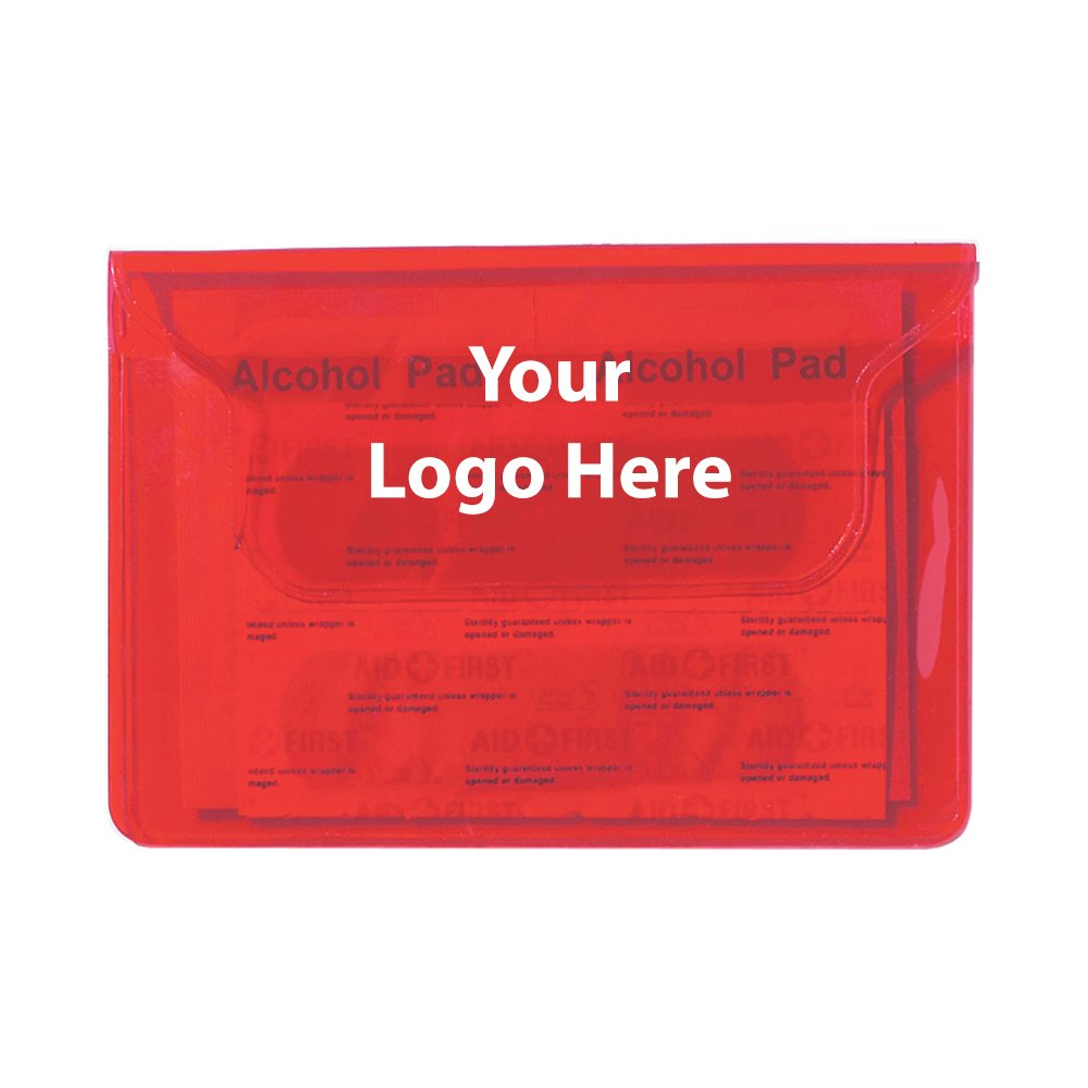 First Aid Pouch - 250 Quantity - $0.99 Each - PROMOTIONAL PRODUCT / BULK / BRANDED with YOUR LOGO / CUSTOMIZED by Sunrise Identity (Image #1)