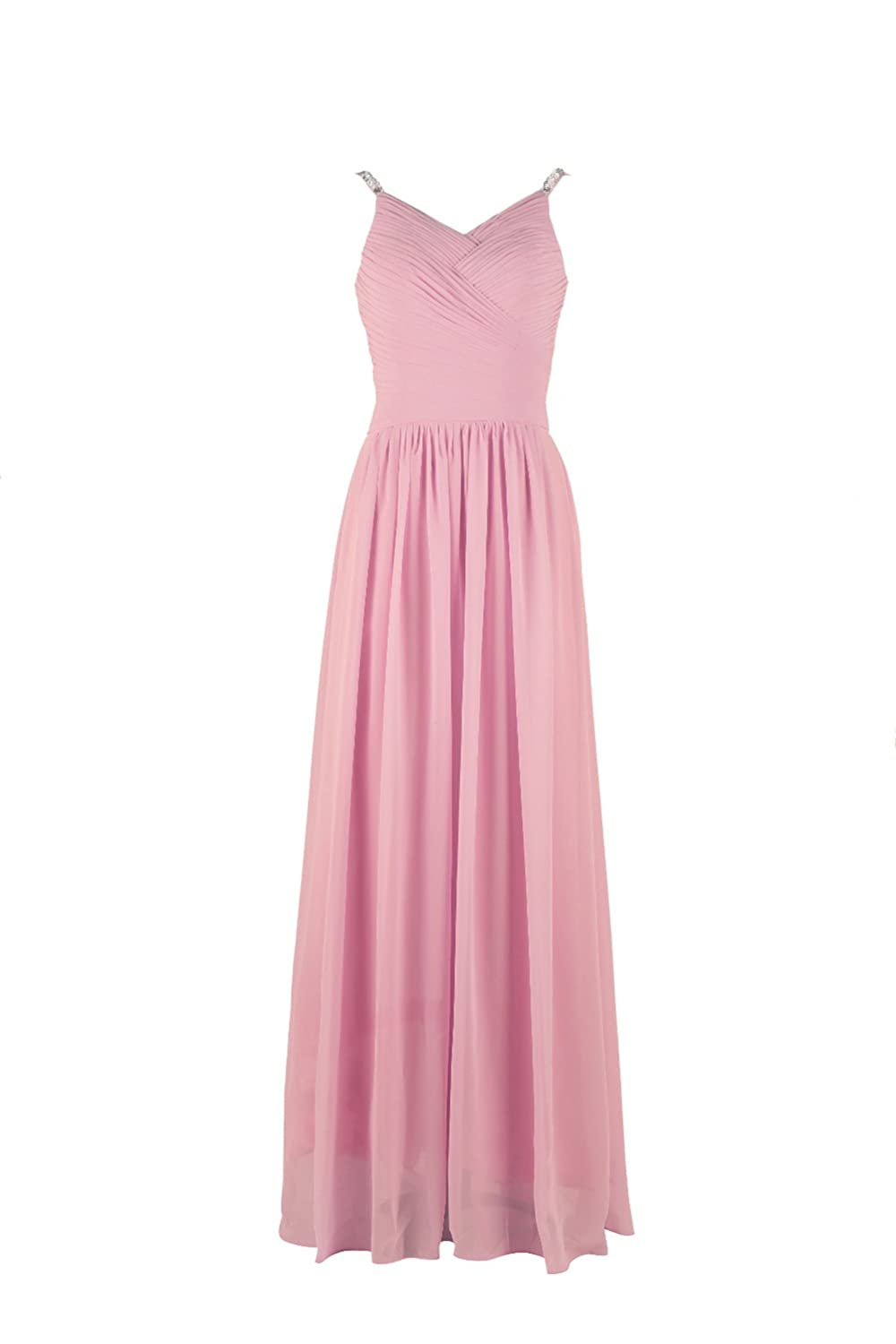 YiYaDawn Women's Long Bridesmaid Dress Evening Ball Gowns