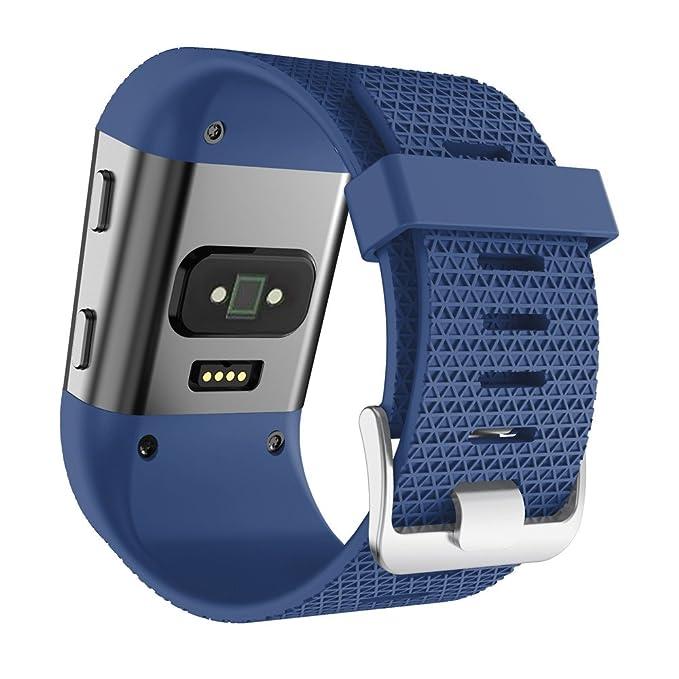 Correa de Relojes Cómoda y Durable, YpingLonk Silicona para Fitbit Surge Watch Repuestos Grande Cómoda y Durable De Brazalete Deportiva Fitness Gimnasio De ...