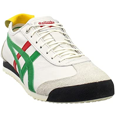 best sneakers a035b a436c Amazon.com: Onitsuka Tiger Mexico 66 SD Mens in Cream/Green ...