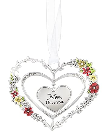 amazon com ganz love and blessings heart ornament ganz silver
