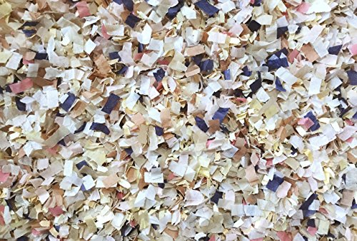 Blush Navy Blue Champagne Ivory Confetti Mix Biodegradable Wedding Shower Party Decorations Throwing Table Décor InsideMyNest (25 Handfuls)