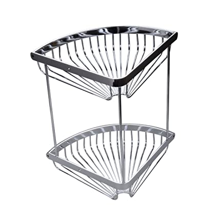 Amazon Decoraport Shower Bathroom Corner Shelves Corner Basket Amazing Baskets For Corner Shelves