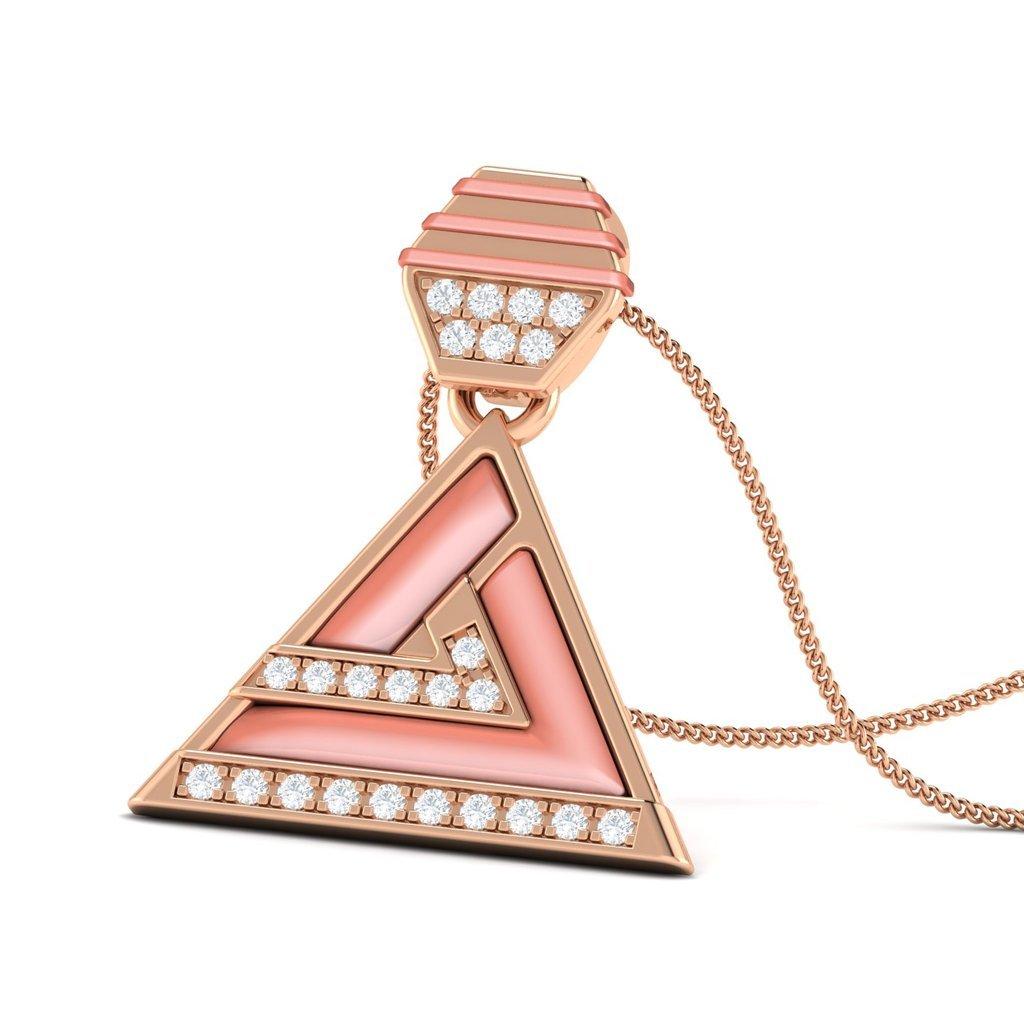 Jenny Jordan 14KT Gold Diamond Shell Pendant by Facets Jewels