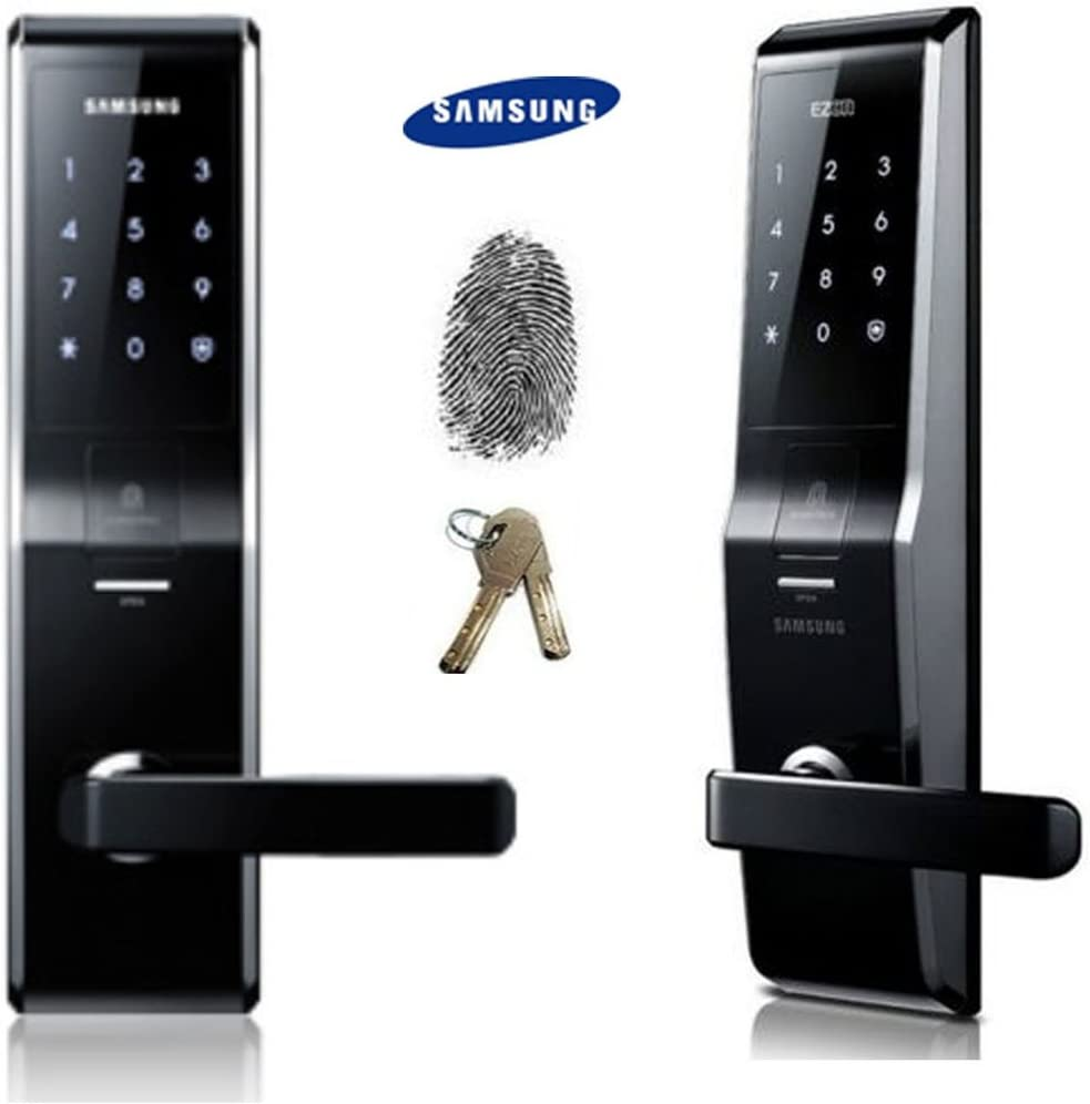 Fingerprint SAMSUNG SHS-5230 Digital Door Lock keyless touchpad Security EZON + 2pcs of Emergency Keys