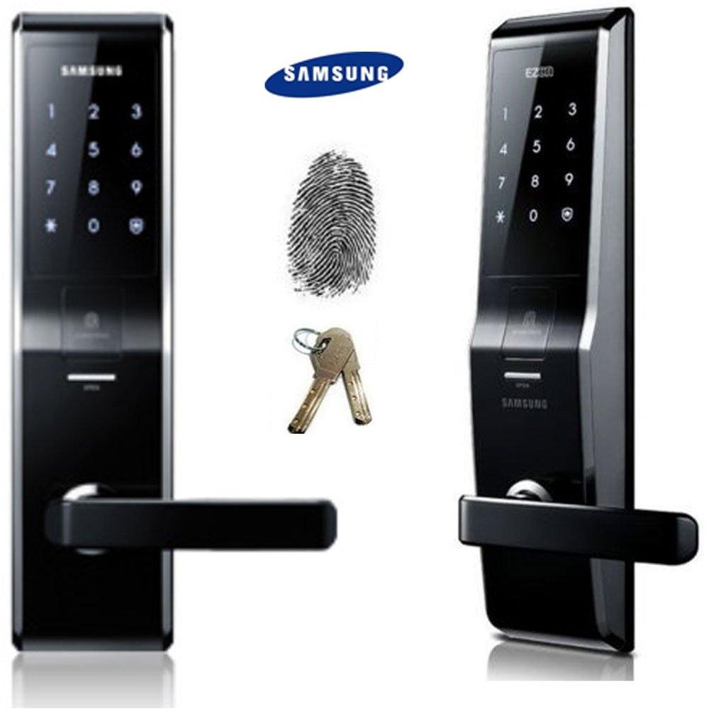 Fingerprint SAMSUNG SHS-5230 Digital Door Lock Keyless Touchpad Security EZON + 2pcs Of Emergency Keys