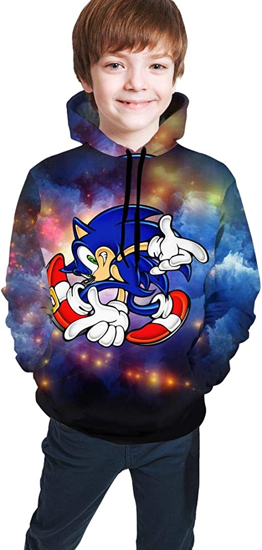 Amazon Com Jacob Cook Kid S Youth Hoodies Sonic The Hedgehog 3d Print Unisex Pullover Hooded Sweatshirts For Boys Girls Clothing