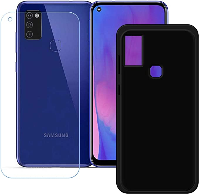 Amazon Com Yzkj Case For Samsung Galaxy M51 Cover Screen Protector Tempered Glass Protective Film Flexible Soft Gel Crystal Black Tpu Silicone Protection Case For Samsung Galaxy M51 6 5 Mp3 Players