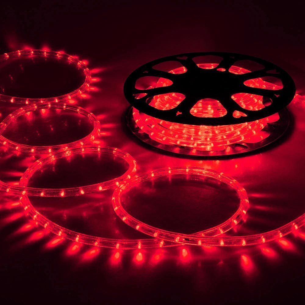 CHIMAERA 150ft Red 2 Wire LED Rope Light Indoor Outdoor Home Holiday Valentines Party Restaurant Cafe Decoration