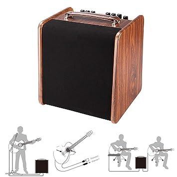 MUSIC Musical Instrument accessories Amplificador de Sonido de Guitarra acústica Amplificador portátil de Bluetooth Amplificador de Guitarra eléctrica con ...