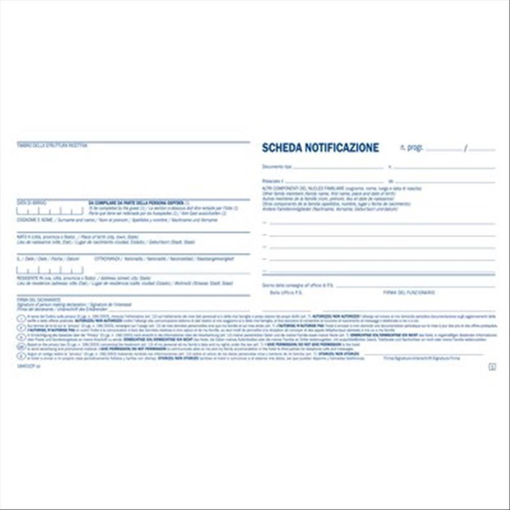 Semper Multiservice 18401CP00 Schede di Notificazione con Quadro Privacy Gruppo Buffetti S.p.A.