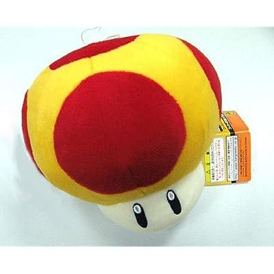 "Nintendo Super Mario Bros.: Mushroom 8"" Plush Doll (YELLOW Mega): Office Products"