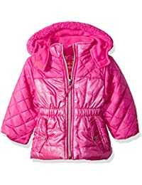 Baby Girls' Infant Quilted Puffer Jacket Mixed With Spray Foil
