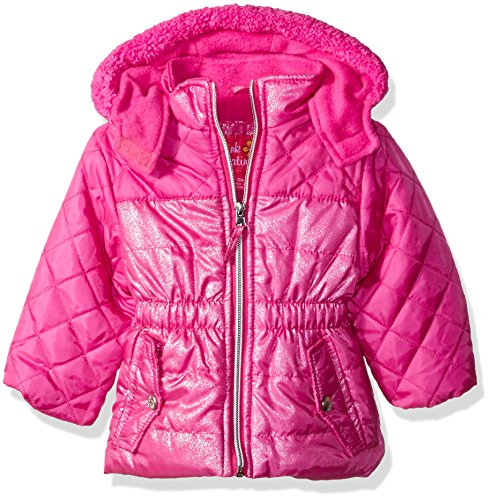 Pink Platinum Baby Girls' Infant Quilted Puffer Jacket Mixed With Spray Foil
