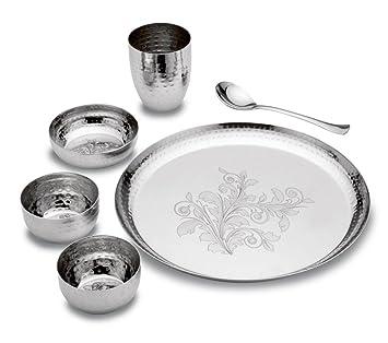 61f1247ebb Buy TuffLine New Design Hammered Finish Stainless Steel Dinner Set ...