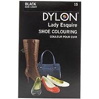 Dylon 20ml 15-Black Leather Dye Shoe Boot Handbag Belt Synthetic Waterproof Colour Die