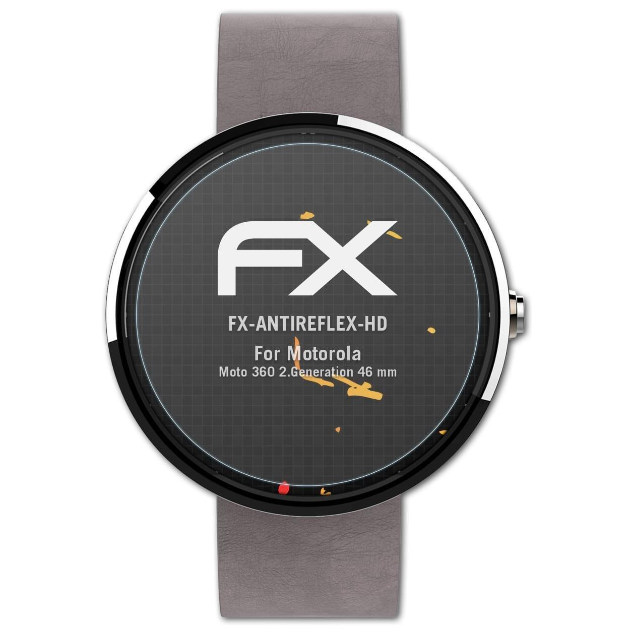 atFoliX Protector Película Compatible con Motorola Moto 360 2 ...