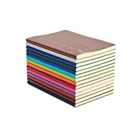 XYTMY A5 PU Leather Colorful Writing Notebook Journal Diary Notebook Daily Notepad Cute Travel Journal( Set of 4, Random Color)