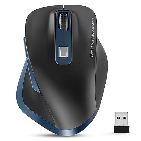 TedGem Ratón inalámbrico para portátil, 2,4 G, ratón inalámbrico ...