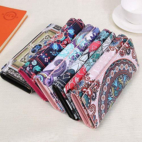 Portemonnee Dagtasje Kaarten voor Portemonnee Nationale 3 Lange Aprigy zwart Leren Mappen Portemonnee Vintage Handtassen Dames Koppeling Houder wfOBIq