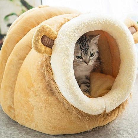 Danigrefinb Pet Supplies, Nido para Mascotas, Cama Suave de Invierno, con Forma de