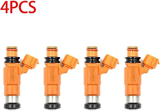 GooDeal 4pcs Fuel Injector Flow Matched 68V-8A360-00-00 for Yamaha Outboard 115 HP Marine