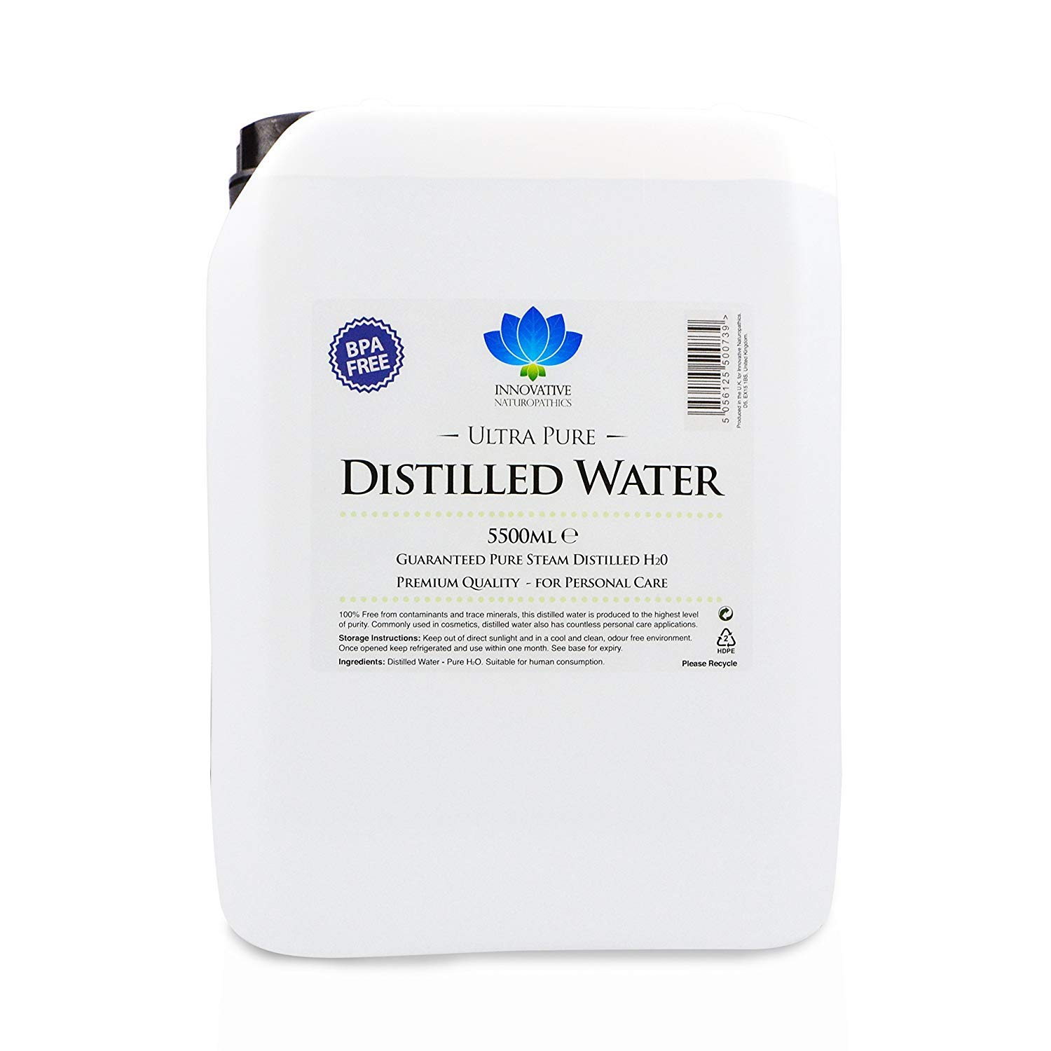 Distilled Water - 5.5 litres - Ultra Pure Water