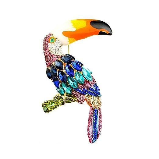Broche de Niña Tao Crystal Color Parrot Broche para Mujer, Esmalte ...