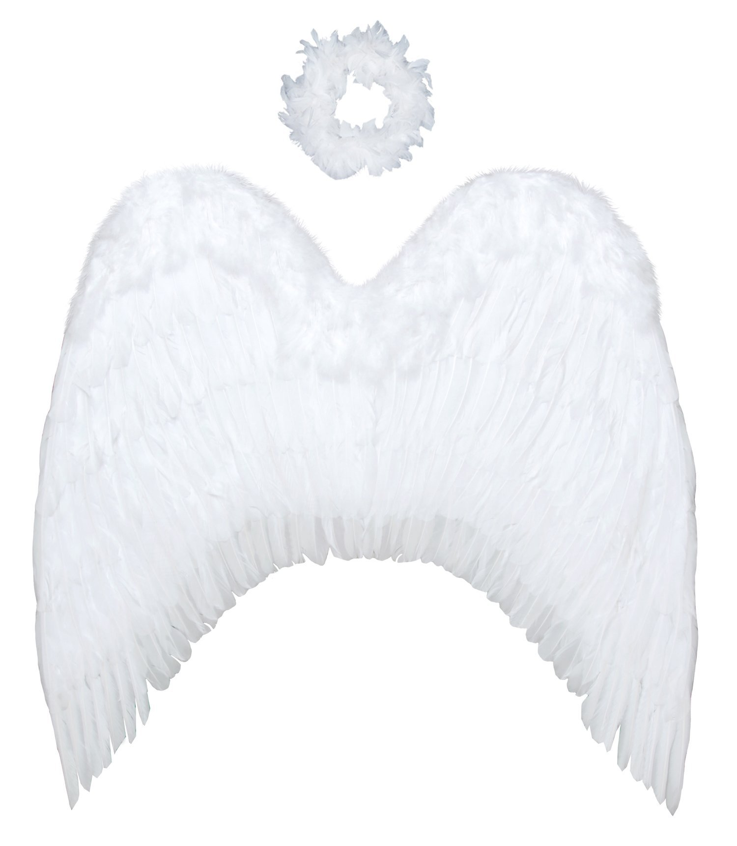 FashionWings (TM Archangel XL White Costume Feather Wings & Halo Adults Unisex by FashionWings (Image #2)