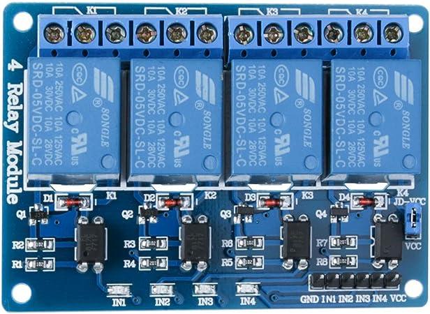5V 1 canal carte de module de relais /à semi-conducteurs avec fusible r/ésistif 250V2A dune conception extraordinairement durable