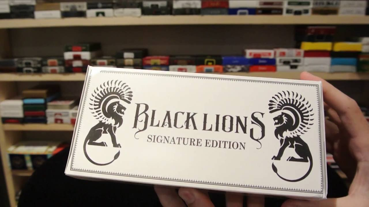 Black Lions Seconds Playing Cards (1-Brick of 12 Decks) by David Blane (New Sealed, in David Blane Black Lions Box)