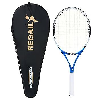 Lixada 1pc de Carbono Raqueta de Tenis Interior Práctica al Aire Libre Entrenamiento Raqueta de Tenis