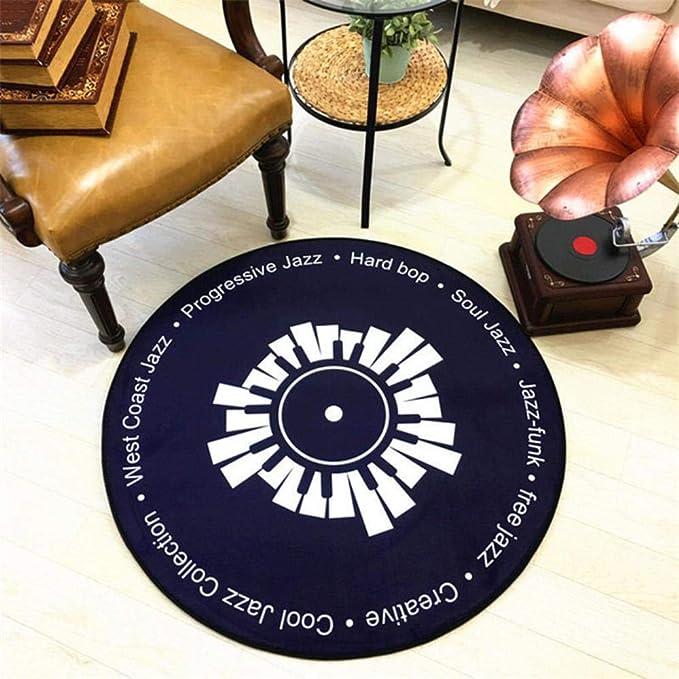 KKRIIS CD Tappeto Tappetino Cuscino Antico Divano Cuscino per Sedia Laterale Tappeto Gatto Giradischi Rotondo///Qualche Studio di Modello Camera Decor Tappeto Blu con Diametro 60 cm