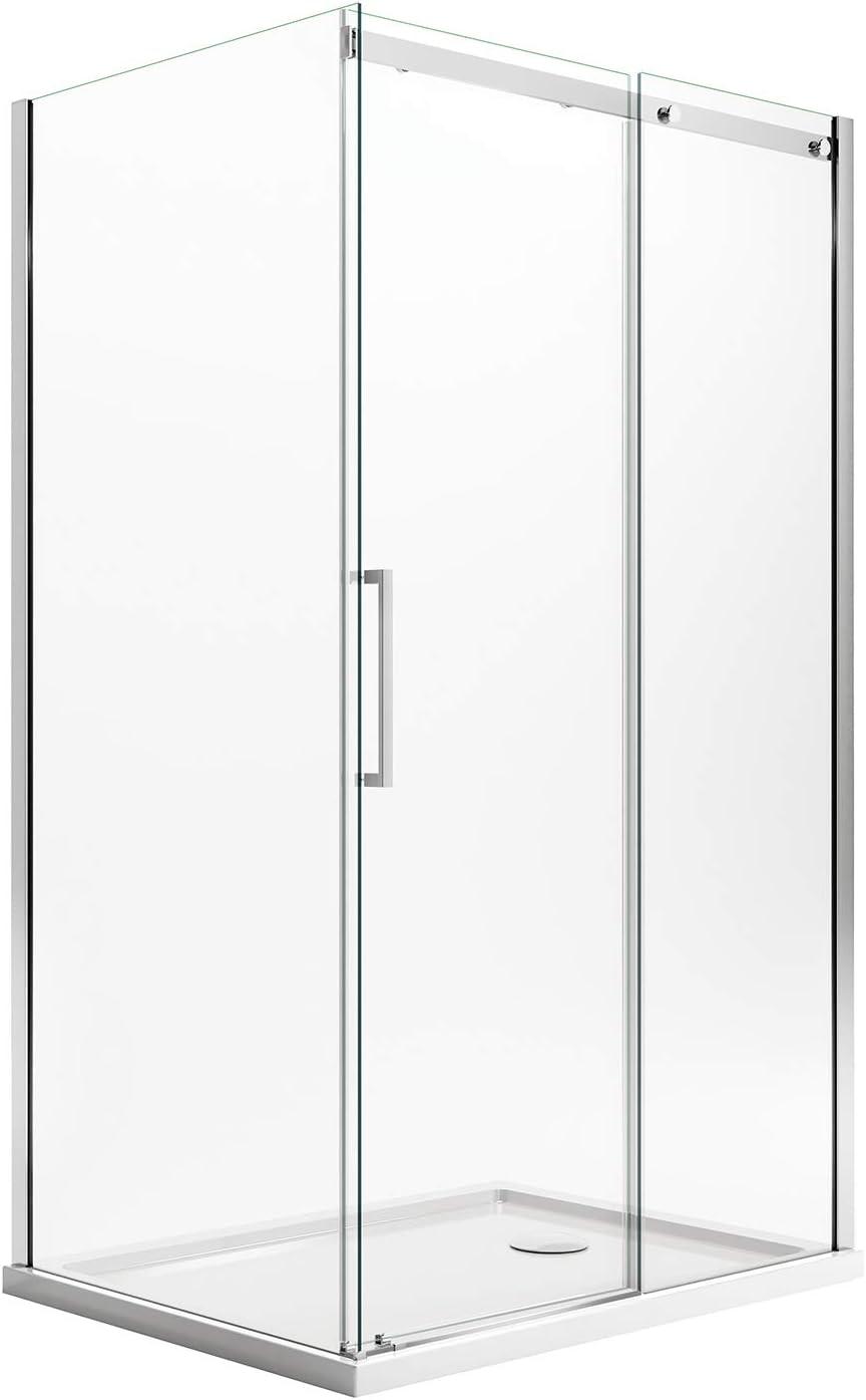 Idralite Mampara de Ducha 70x130 CM H200 Transparente Versión Derecha con EasyClean Mod. Prime Duo 1 Hoja: Amazon.es: Hogar