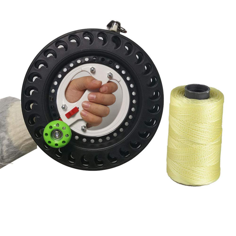 Professional Outdoor Kite Line String Flying Tools Winder Winding Reel Grip Wheel with Lock (Black) by Gnirue