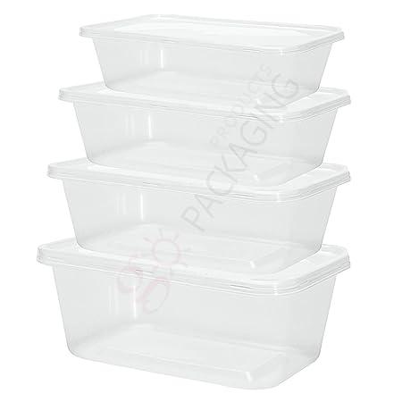 Fiambreras de plástico con tapas, se pueden meter en el microondas ...
