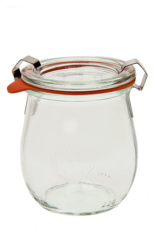 amazon com weck 762 jelly jar 1 5 liter set of 6 kitchen dining