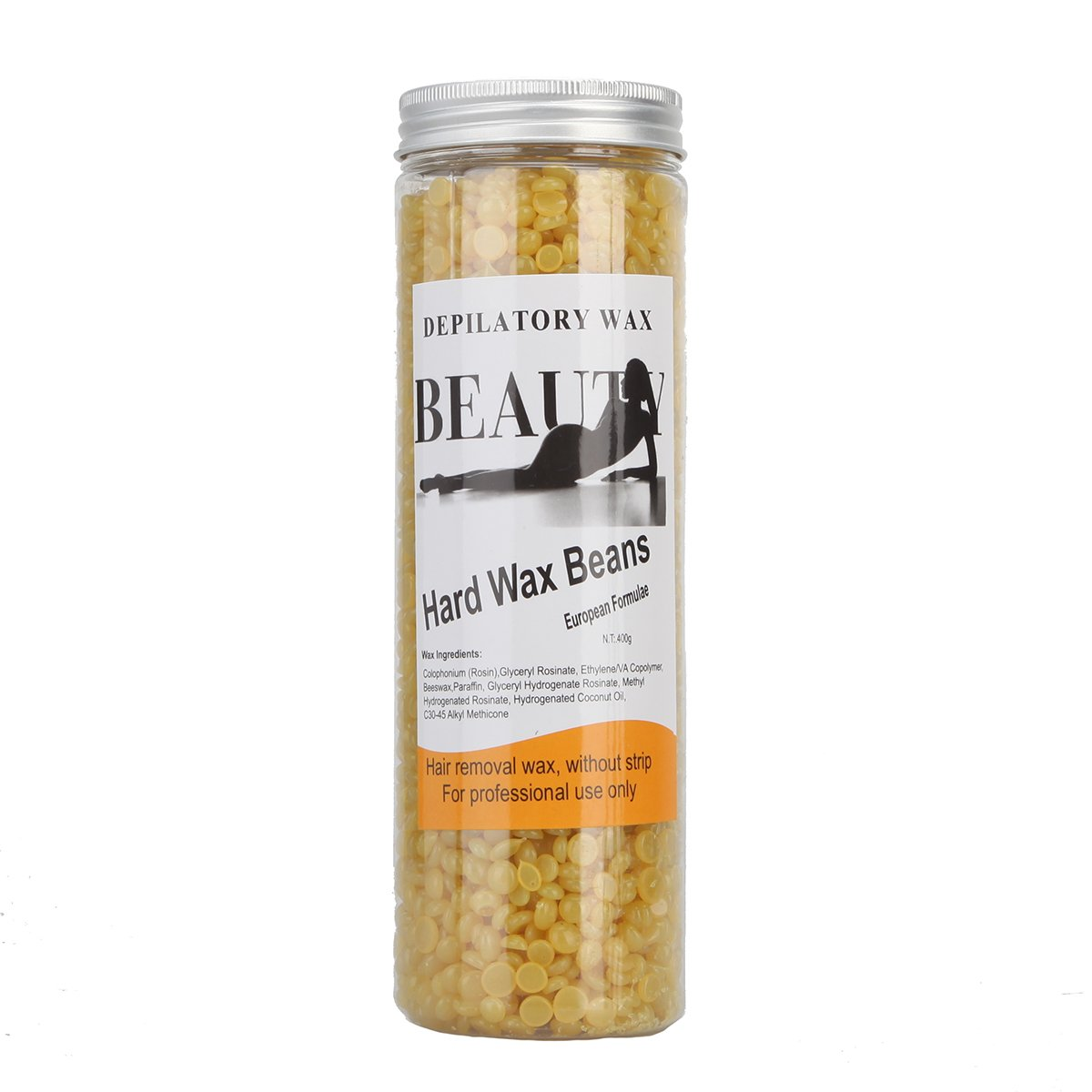 Bonjanvye Depilatory Hard Wax Beans Professional Striptless Hair Removal Wax Beads 400g Rose