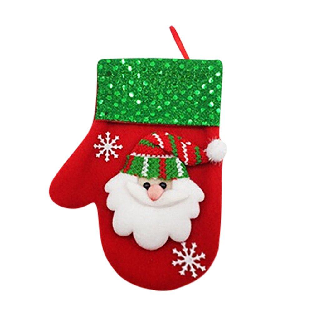 BSGSH Christmas Kitchen Silverware Cutlery Holders Pockets - Santa Snowman Bear Elk Xmas Tree Decoration Xmas Holiday Party (Santa Claus)