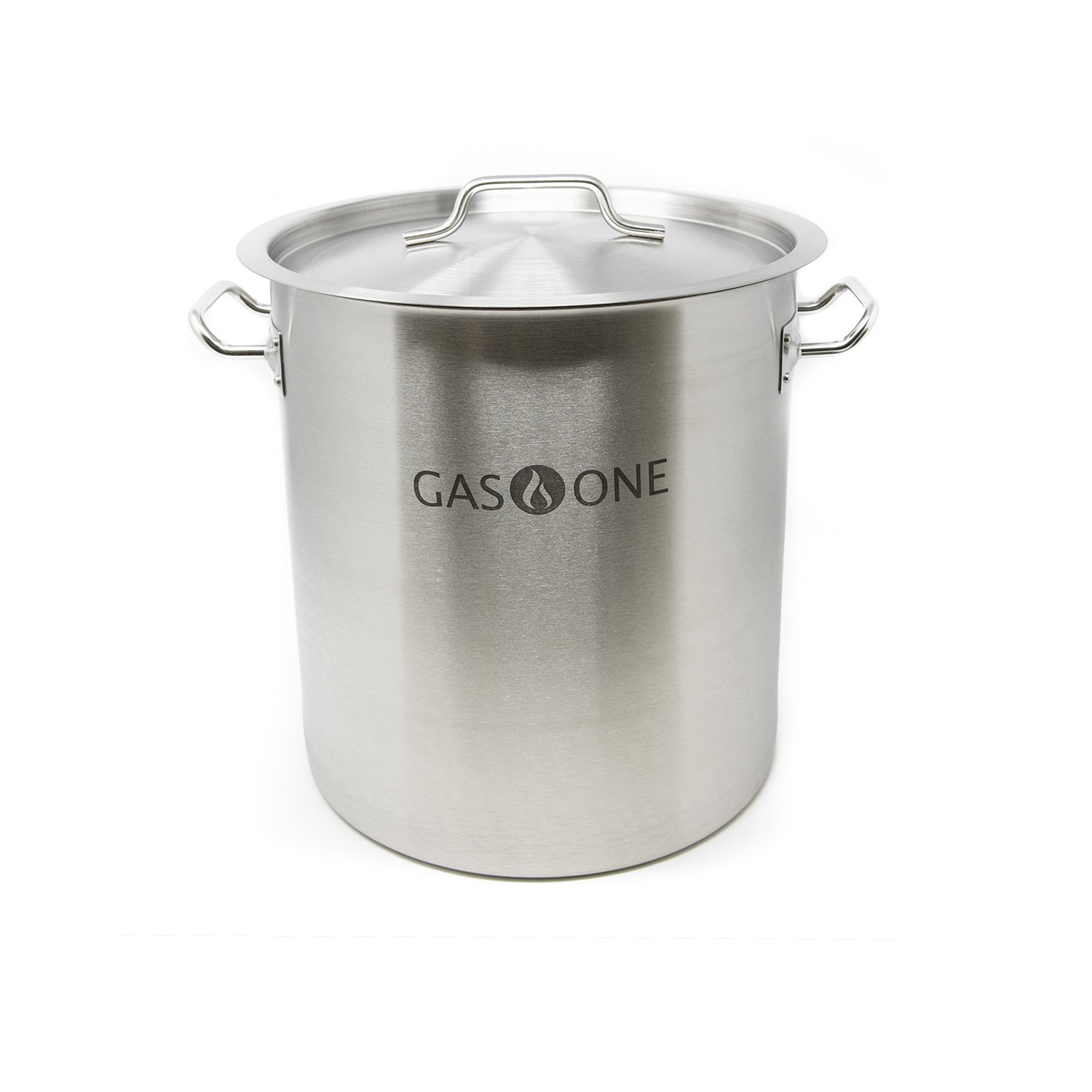 GasOne SP-32 Stainless Steel Brew Kettle Pot 8 Gallon 32 Quart Satin Finish with Lid/Cover by GasOne