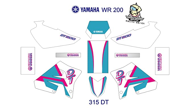Yamaha DT 200R WR Full Decal Sticker Set BOTH SIDES