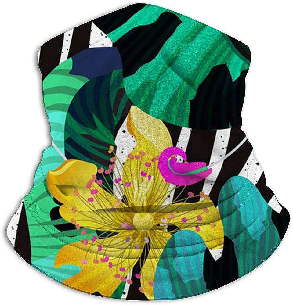Verano Flores tropicales Vector Naturaleza Bufanda facial Pasamontañas informal Sombreros Pañuelo elástico Diademas Protección contra el viento/sol/rayos UVA