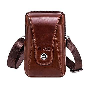 AOLVO Vertical Funda de Piel para Cinturón Bolso de Cintura Hombre Cuero del Teléfono Móvil de Funda de Transporte para iPhone X / 8 Plus / 8/7 Plus / ...