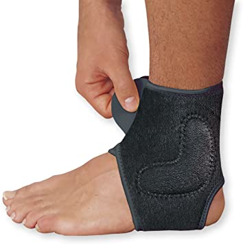 5acec287c6 Image Unavailable. Image not available for. Color: WellWear Copper Ankle  Brace ...