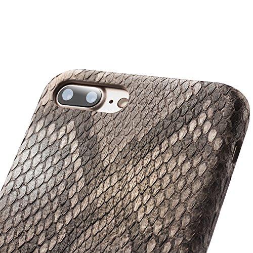 iPhone 8 Plus Case, iPhone 7 Plus Case, QIALINO Unique Style Genuine Leather Cover Flip Sleeve for Apple iPhone 8Plus / 7Plus by QIALINO (Image #5)