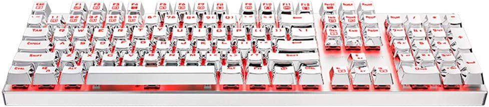 Computer Notebook Office Typing Programmer Gaming Keyboard Duminjun 104-key Ergonomic USB Wired Mechanical Keyboard