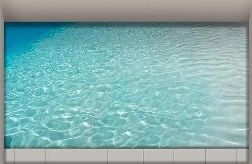 LXPAGTZ 3D Bad Klebte HD Wasser Wohnzimmer Flur Küche Esszimmer Badezimmer  Wasserdichte Rutschfeste Selbst Selbstklebende Aufkleber