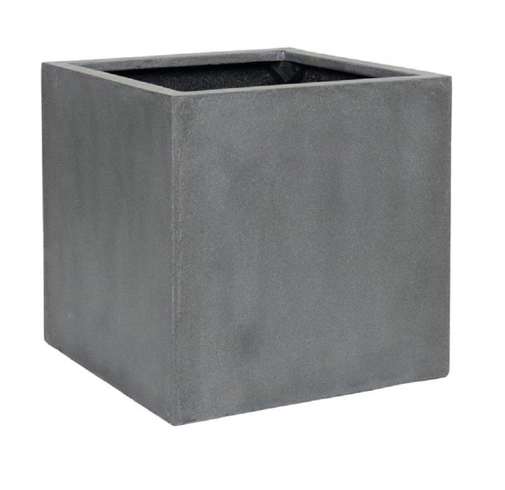 "Elegant Gray Square Indoor Outdoor Planter Pot – Elegant Cube Shaped Flower pot - 20""H x 20""W x 20""L - By Pottery Pots"